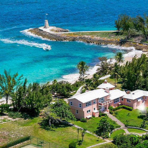 Little Whale Cay ariel view
