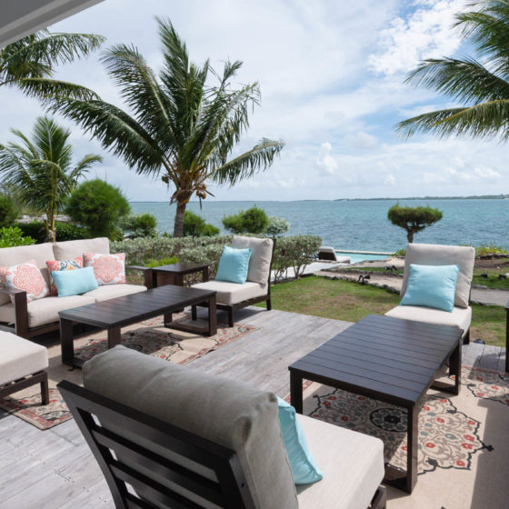 Middle Cay Outdoor Living Area